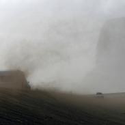 Sandsturm im Skeidararsandur