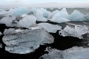 Eisvariationen an der Mündung der Jekulsa