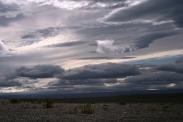 Wolkenformationen mit Hintergrndbeleuchtung