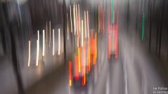 Autolichter, bewegte Kamera