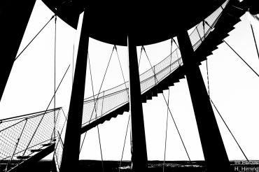 Ausschnitt der Wendeltreppe.